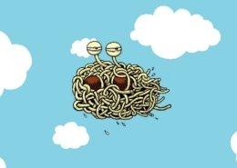 Le monstre en spaghetti géant du Pastafarisme @bensavalle